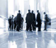 Group of people in the lobby business center Royalty Free Stock Photo