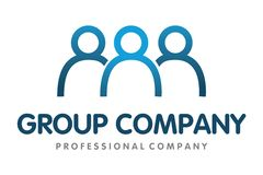 Group people logo Royalty Free Stock Photography