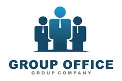 Group people logo Royalty Free Stock Image