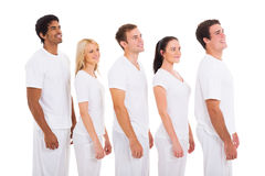Group people looking Royalty Free Stock Photos