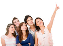 Group of people looking away Stock Photo
