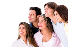 Group of people looking something Royalty Free Stock Image
