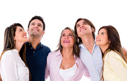 Group of people looking up Royalty Free Stock Image