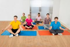 Group of people in lotus position Stock Image
