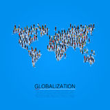 Group of people making a earth planet shape. Royalty Free Stock Photos