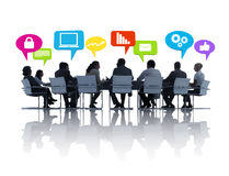 Group of People in a Meeting Royalty Free Stock Photo