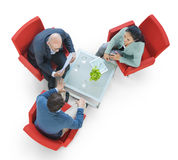 Group of People Meeting in Aerial View Royalty Free Stock Image