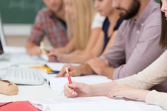Group of people in a meeting or class royalty free stock photo