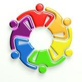 3D People logo meeting stock image