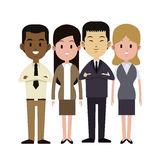 Group people multi-ethnic business work Royalty Free Stock Image