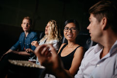 Group of people in multiplex theater Stock Photography