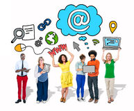 Group of People with Networking Concepts Stock Images