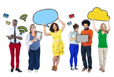 Group of People with Networking Concepts Stock Photo