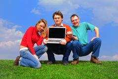 Group of people with notebook Stock Images