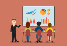 A group of people in the office. Economic seminar . On the image presented A group of people in the office. Economic seminar Royalty Free Stock Photo