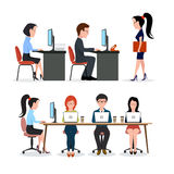 A group of people in the office stock image