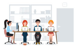 A group of people in the office Royalty Free Stock Photos