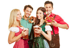 Group of people at Oktoberfest Royalty Free Stock Photo