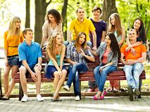 Group people outdoor. Royalty Free Stock Images