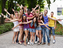 Group of people outdoors. Stock Photography