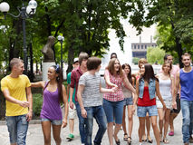 Group of people outdoors. Stock Images
