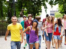 Group of people outdoors. Stock Photos