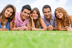 Group of people outdoors Stock Images