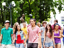 Group of people outdoors. Stock Image