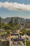 Group of People at Park in Cuenca Ecuador stock image