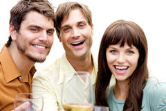 Group of people at a party Stock Photo