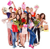 Group people on party. Royalty Free Stock Photo