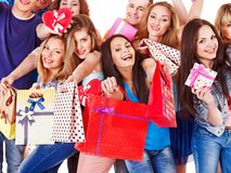 Group people on party. Stock Photo