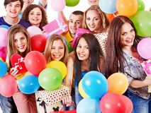 Group people on party. Royalty Free Stock Photography