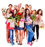 Group people on party. Stock Image