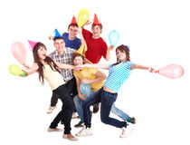 Group of people in party hat. Stock Images