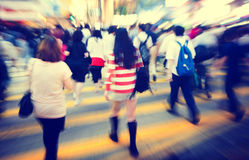 Group of People Pedestrian Rush Hour Concepts Stock Photography