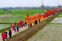 Group of people performance dragon dance Royalty Free Stock Photography