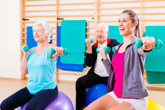 Group of people at physiotherapy Royalty Free Stock Photos