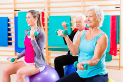 Group of people at physiotherapy Stock Photos