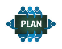 Group of People Planning  Logo Royalty Free Stock Photos