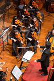 Group of people playing in a classical music concert, china stock image