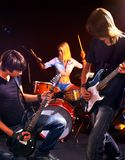 Group people playing  guitar. Stock Photo