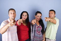 Group of people pointing Stock Photos