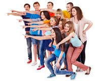 Group people pointing. Royalty Free Stock Image
