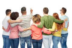 Group of people pointing to something Royalty Free Stock Image
