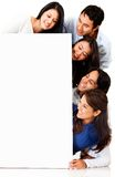Group of people with poster Stock Photos