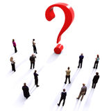 Group of people with questions Royalty Free Stock Photo