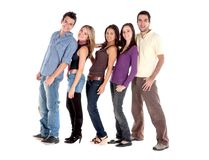 Group of people in a queue Stock Photo
