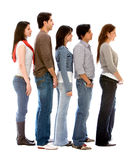 Group of people in a queue Royalty Free Stock Images
