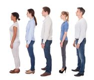 Group of people in queue Royalty Free Stock Image